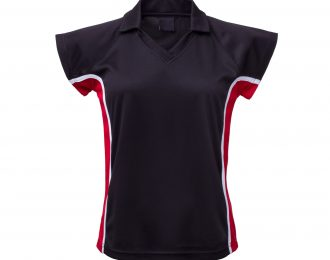 PP 1247 – EYELET PANELLED POLO WITH COLLARED CROSSOVER V